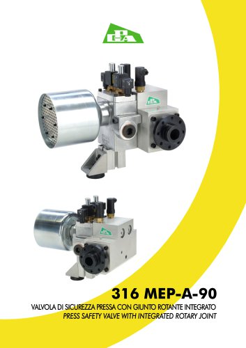PRESS SAFETY VALVE WITH INTEGRATED ROTARY JOINT