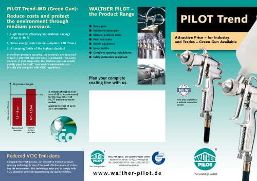 PIlot Trend – for industrie and trades