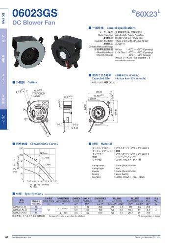 06023GS Ф60X23L DC Blower Fan