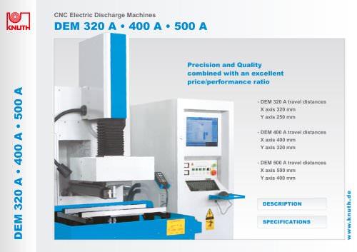 DEM 320 A . 400 A . 500 A