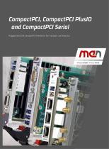CompactPCI, CompactPCI PlusIO and CompactPCI Serial
