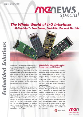 Flexible M-Modules for Industrial Markets
