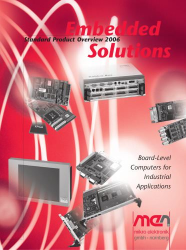 MEN Embedded Solutions Product Catalogue