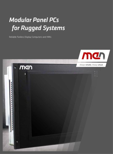 Modular Panel PCs for Rugged Systems