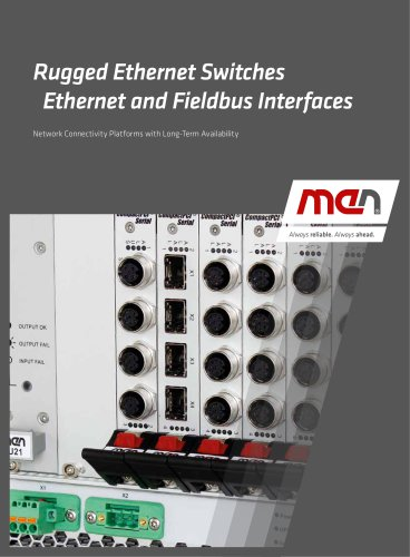 Rugged Ethernet Switches Ethernet and Fieldbus Interfaces