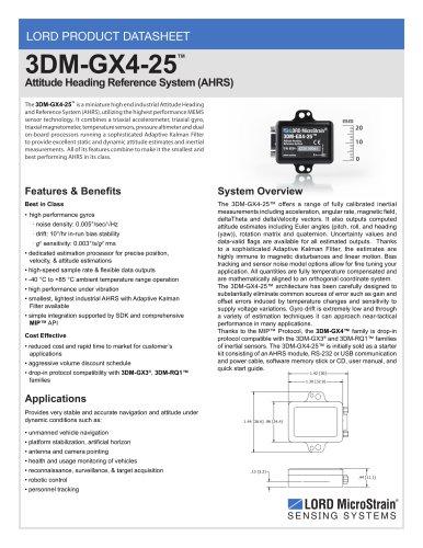 3DM-GX4 -25? Product Datasheet