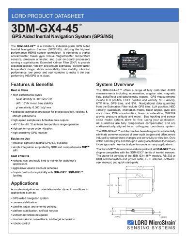 3DM-GX4-45? Product Datasheet