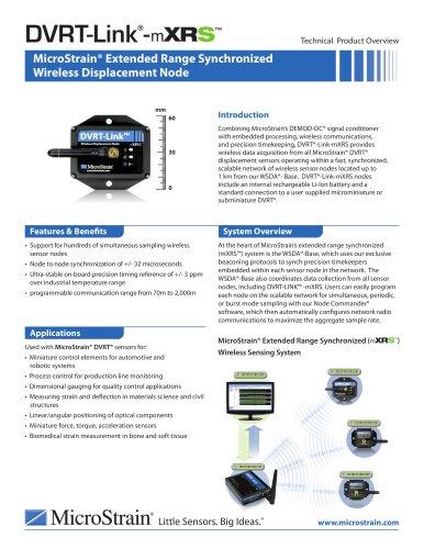 DVRT-Link? -mXRS? Wireless Displacement Node