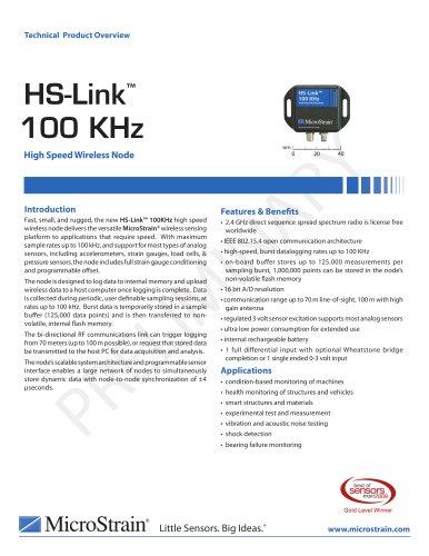 HS-Link® -100 KHz High Speed Wireless Node