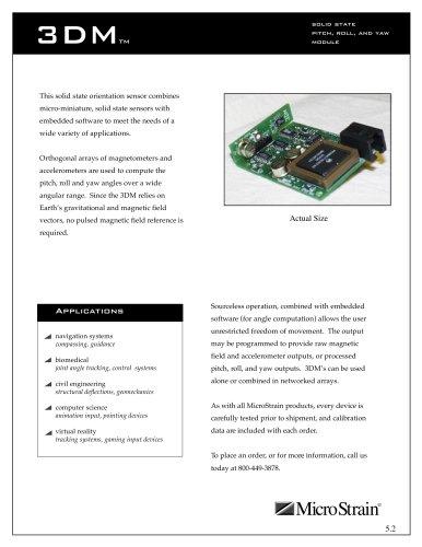 Inclinometers and Orientation Sensors 3DM®