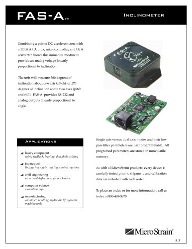 Inclinometers and Orientation Sensors FAS-A®