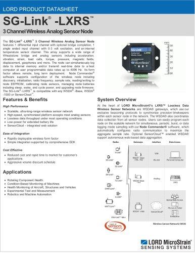 SG-Link® -LXRS® Wireless Strain Node
