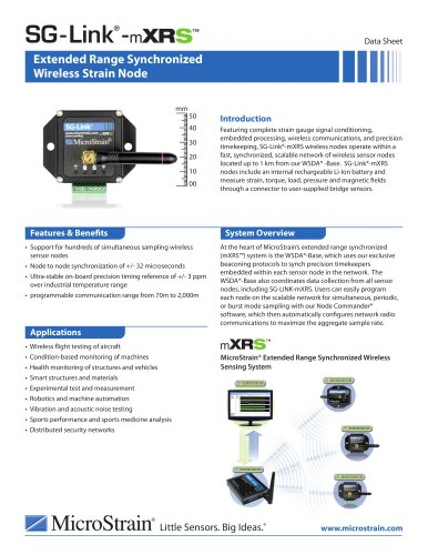 SG-Link® -mXRS? Wireless Strain Node