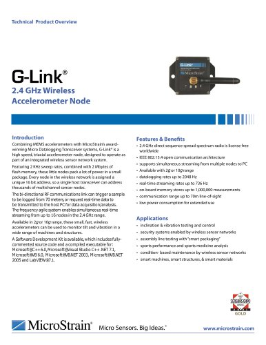 Wireless 2.4 GHz G-Link®