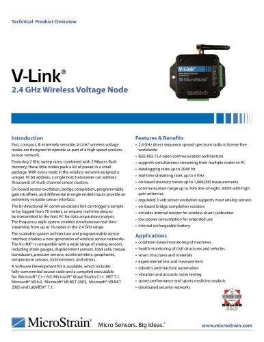 wireless sensor network 2.4 GHz V-Link®