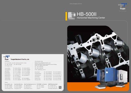 3-AXIS CNC MACHINING CENTER / HORIZONTAL / CUTTING/HB-500ll