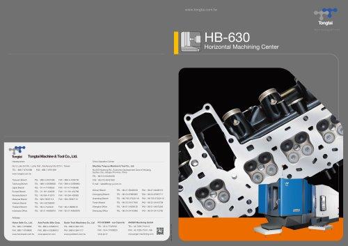 3-AXIS CNC MACHINING CENTER / HORIZONTAL / CUTTING/HB-630II