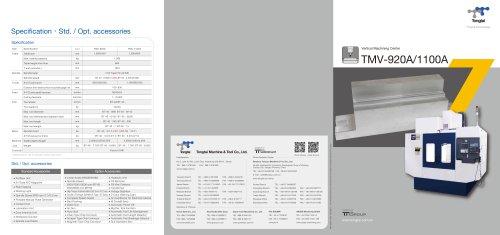 3-AXIS CNC MACHINING CENTER / VERTICAL / CUTTING/TMV-1100A