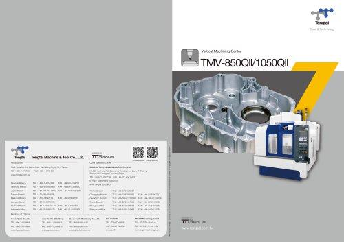 3-AXIS CNC MACHINING CENTER / VERTICAL / HIGH-PRECISION / CUTTING/TMV-850QII