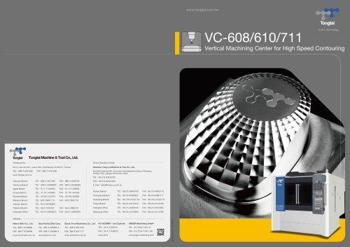 3-AXIS CNC MACHINING CENTER / VERTICAL / HIGH-PRECISION VC-608