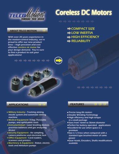 DC Motors - Coreless - Telco - PDF Catalogs   Technical