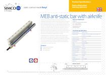 MEB anti-static bar with airknife
