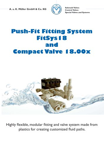 Push-Fit Fitting System FitSys18 and Compact Valves 18.00x