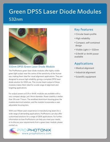 532nm Green Laser Diode Modules