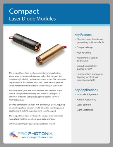 Compact Laser Diode Modules