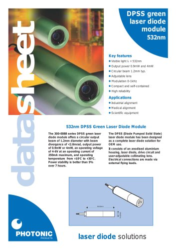 DPSS Green Laser Diode Modules