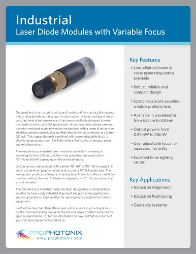 Industrial Laser Diode Modules: Variable Focus