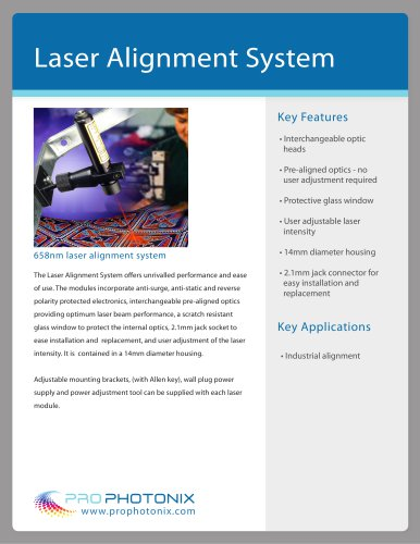 Laser Alignment System Laser Diode Modules