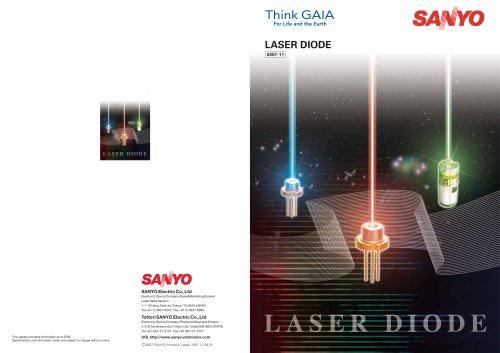 SANYO Laser Diode Catalogue 2008