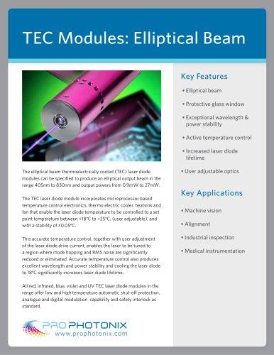 TEC Laser Diode Modules: Elliptical Beam