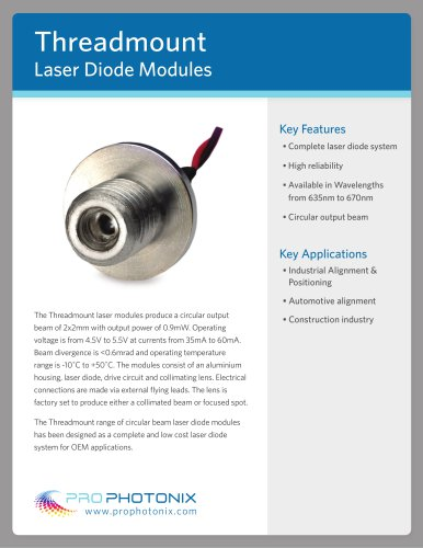 Threadmount Laser Diode Modules