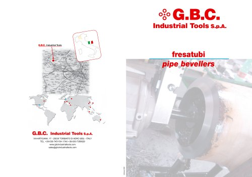GBC Pipe cold beveling machines