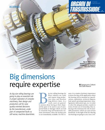 Big Dimensions Require Expertise