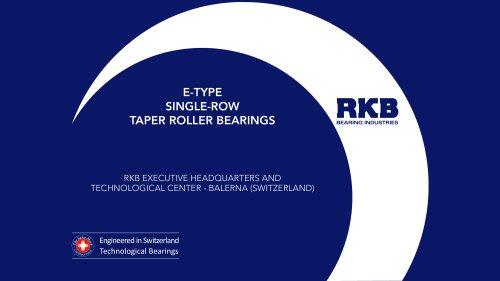 E-Type Single Row Taper Roller Bearings