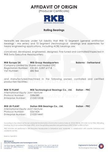 International Producer Certificate