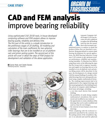 RKB CAD and FEM Analysis Improve Bearing Reliability