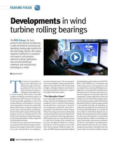 RKB Developments in Wind Turbine Rolling Bearings