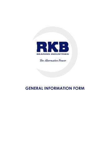 RKB General Information Form