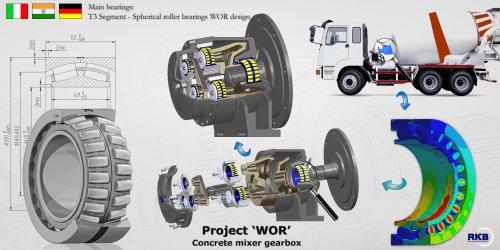 Spherical roller bearings WOR design