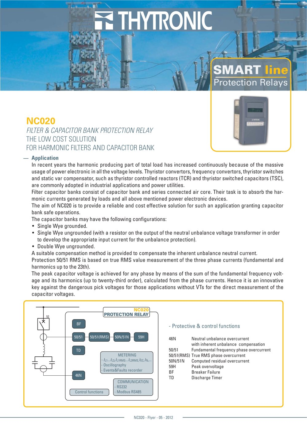 Nc020 Flyer Thytronic Pdf Catalogue Technical Documentation Basic Functions Of A Relay 1 8 Pages