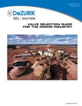 DeZURIK's Valve Selection Guide for the Mining Industry