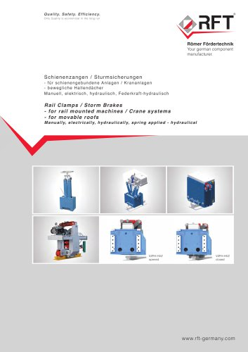 "COMPLETE CATALOGUE ""RAIL CLAMPS / STORM BRAKES"""