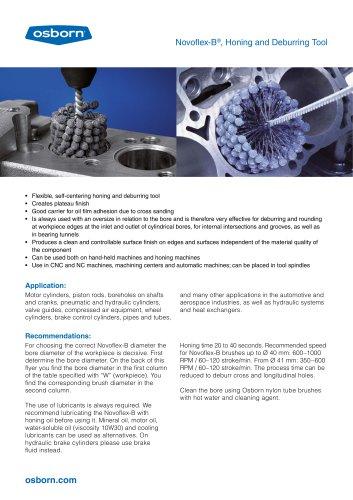 Novoflex-B®, Honing and Deburring Tool