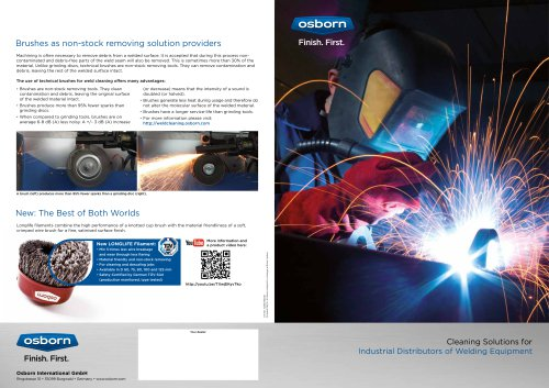 Osborn Product Recommendations for Weldcleaning