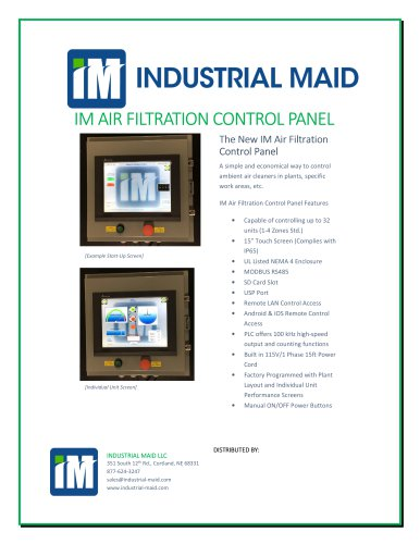 Industrial Maid Control Panel