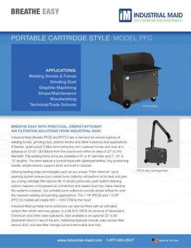 PORTABLES AND PORTABLE DOWNDRAFTS: PORTABLE CARTRIDGE STYLE